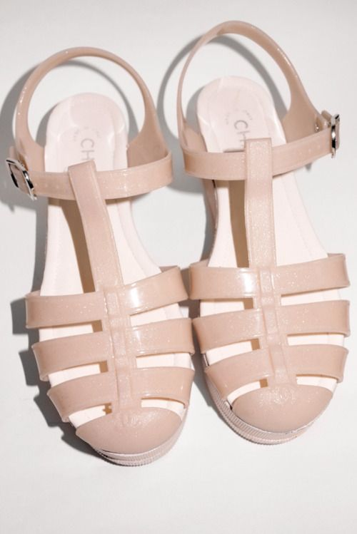 83a39b20d1e5 Chanel Glitter Rose Pink Rubber Jellies - If only I was size 10... -  Wildfox inspiration for artists - Inspiration for artists from Wildfox  Couture