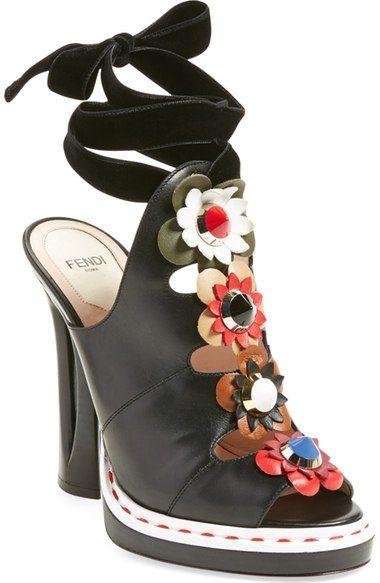 b81a1b6a8a28 Fendi  Flowerland  Peep Toe Sandal (Women) available at  Nordstrom ...
