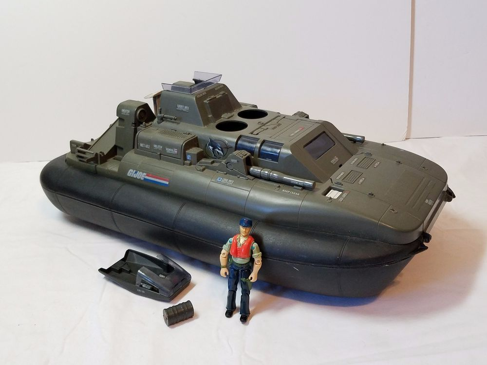 Vintage GI Joe Vehicle Killer WHALE W.H.A.L.E. Hovercraft Cutter Action Figure #Hasbro
