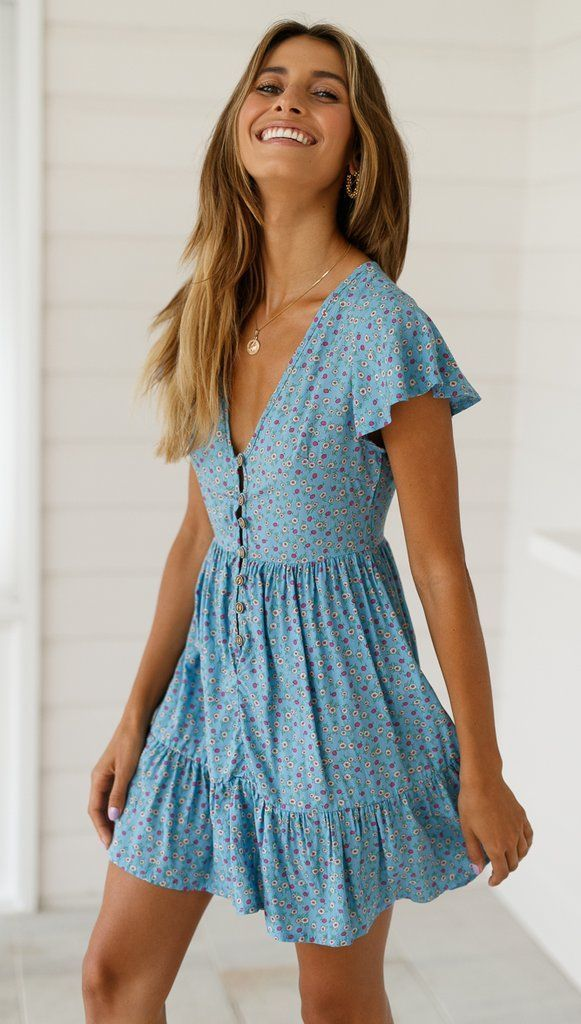 Valentina-jurk (Blue Marguerite), #daisy #dress #valentina