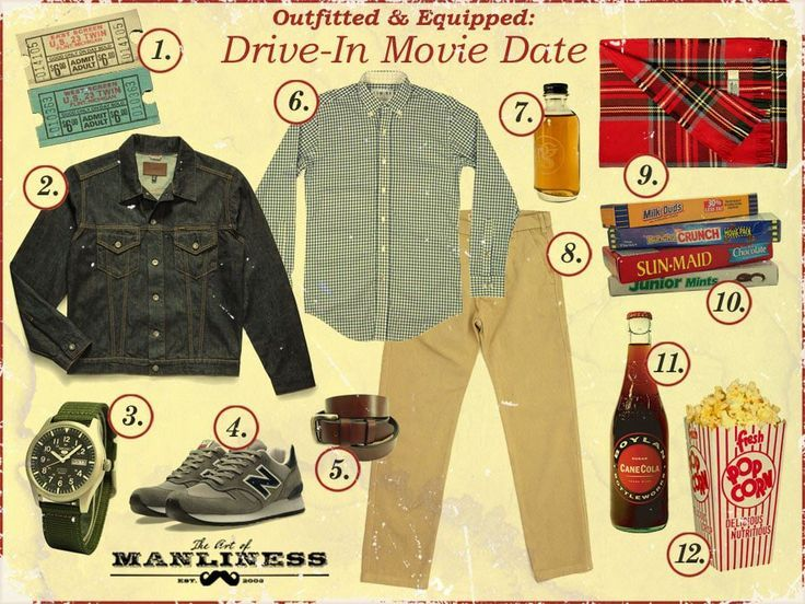 What To Wear And Bring On A Drive In Movie Date Watch Free Latest Movies Online On Moive365 To Movie Date Outfits Movie Dates Art Of Manliness