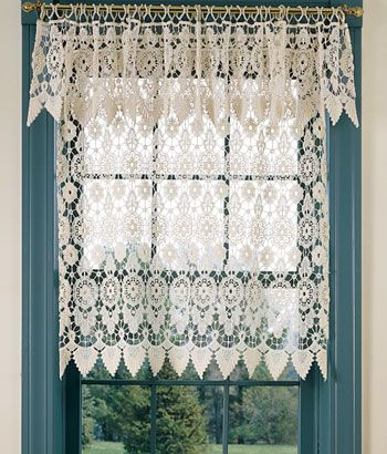Curtains Ideas crochet curtain patterns valances : 10 Best images about Cottage gordyne on Pinterest | Window ...