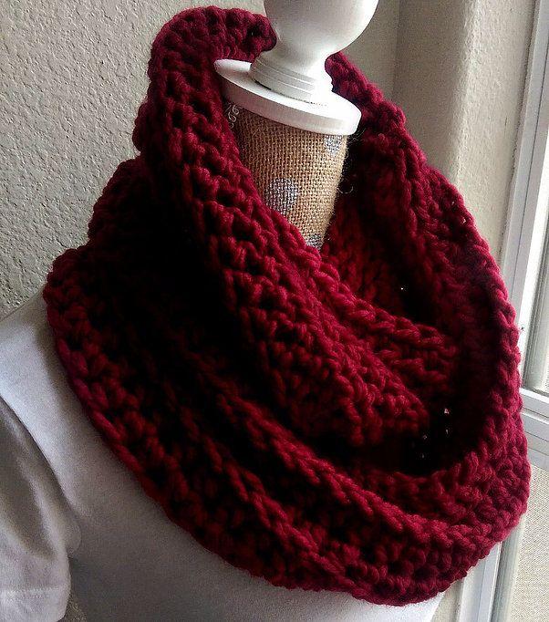 Chunky Crochet Scarf Pattern Diy Gifts Pinterest