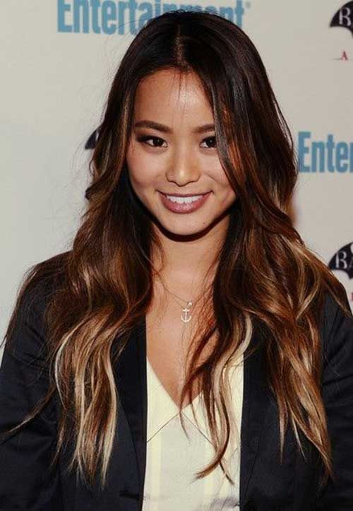 Long Asian Ombre Hairstyles Cabelos Pinterest Jamie Chung - Hairstyle asian long