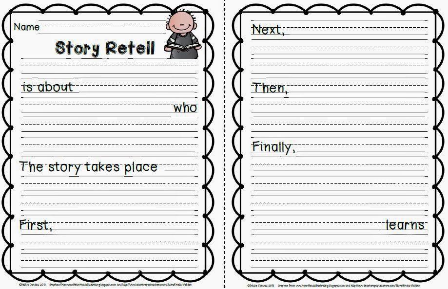 One Paragraph Retell Sailing Through First Retelling Story Retell Reading Class Retell worksheet first grade