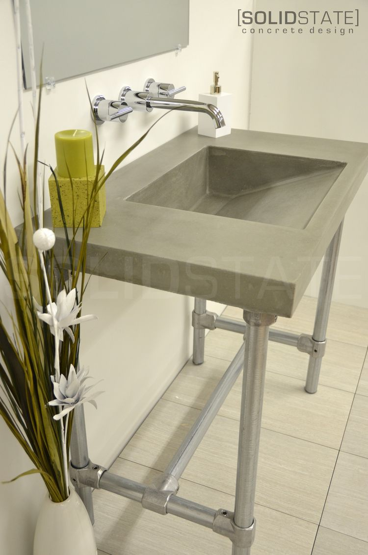 RAMP DRAIN VANITIES Solid State Concrete Design Concrete - Bathroom vanities rochester ny for bathroom decor ideas