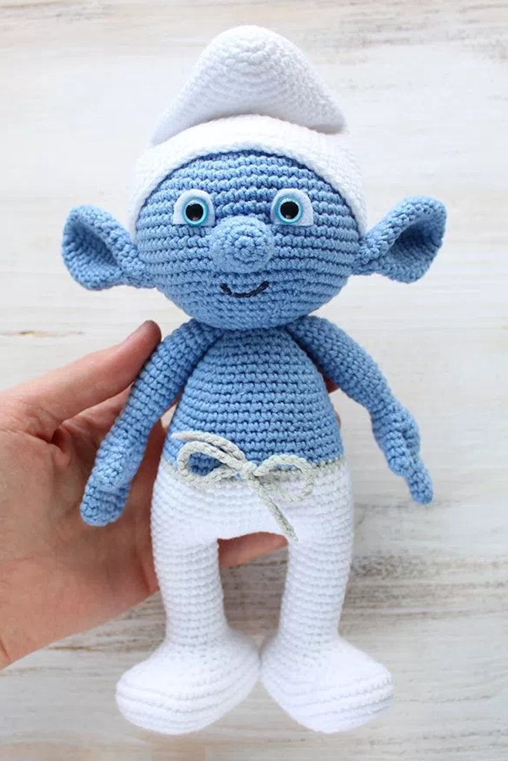 Crochet smurf amigurumi crochet pattern knitting crocheting hug a smurf today make your own crochet smurf using our free amigurumi pattern the crochet smurf is about 26 cm tall bankloansurffo Image collections