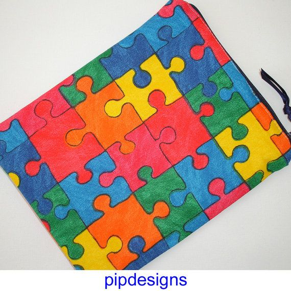 Jigsaw Zippered Pouch For Amazon Kindle Fire 7 Hd Hdx Or Google