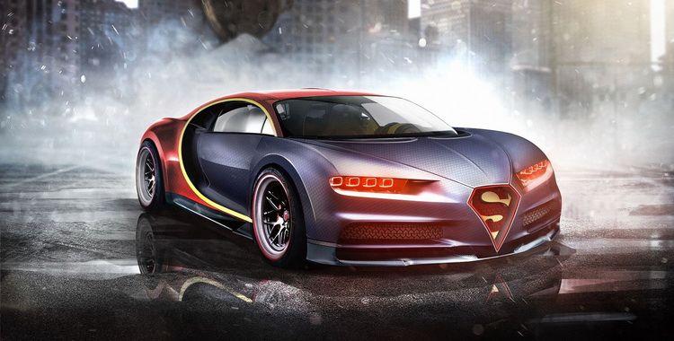 Marvel Dc Superheroes Finally Get Their Own Cars Carscoops Bugatti Cars Bugatti Wallpaper Bugatti