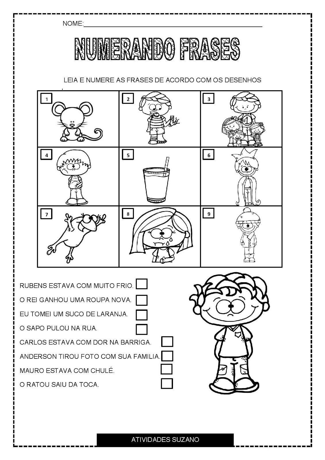 Numerando Frases Actividades Educativas Pinterest Education