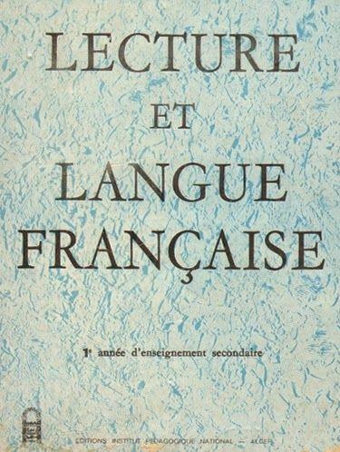 Lecture Et Langue Francaise 1ere Annee D Enseignement