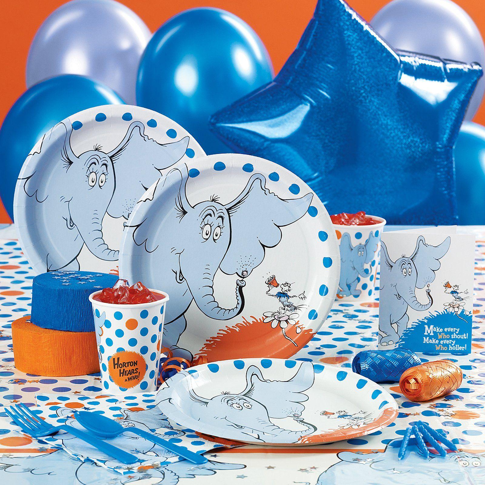 Dr Seuss Party Packs Dr Seuss Birthday Party Seuss Party Elephant Birthday