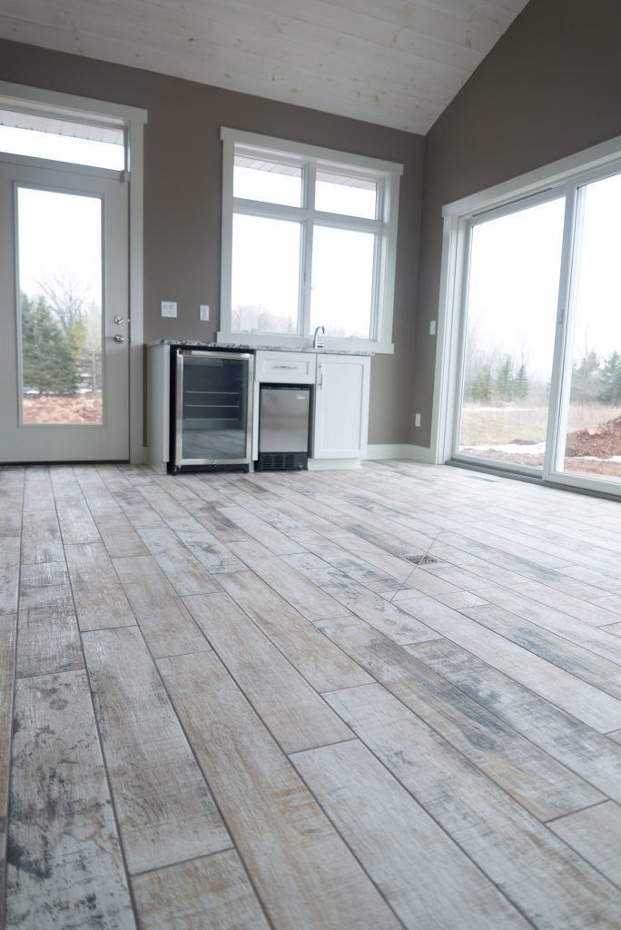Sunroom Porcelain Tile Flooring Angora