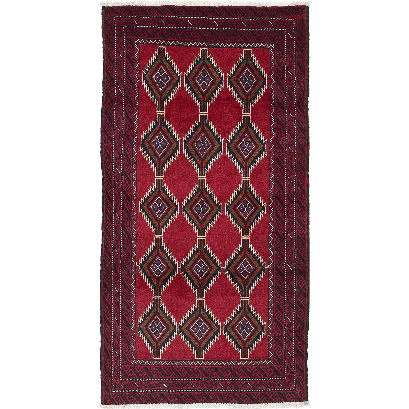 Ecarpetgallery Hand-Knotted Persian Finest Baluch Red Wool Rug