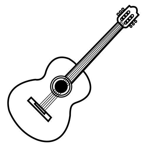 Dibujos De Guitarras Dibujos De Instrumentos Musicales Dibujos De Guitarras Guitarra Para Colorear