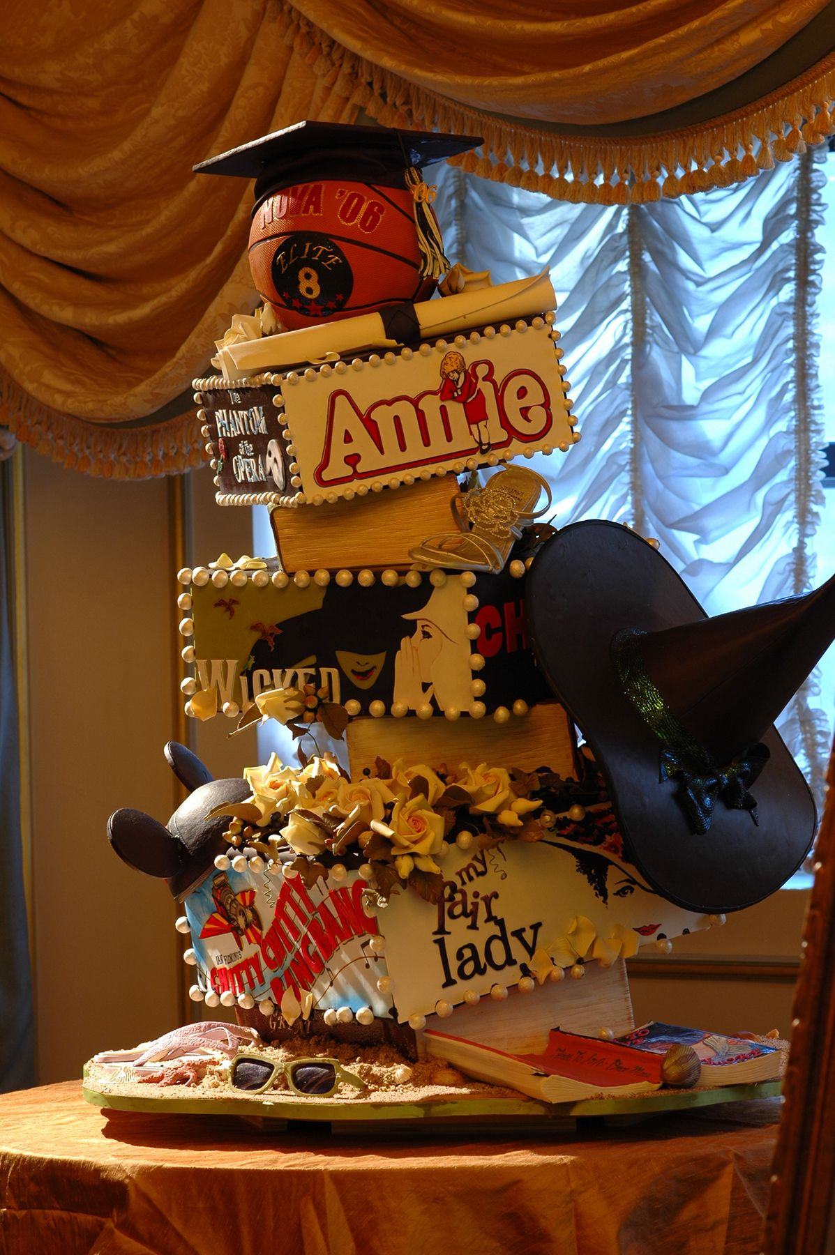 Broadway Themed Layered Cake By Ron Ben Israel Stefanie S