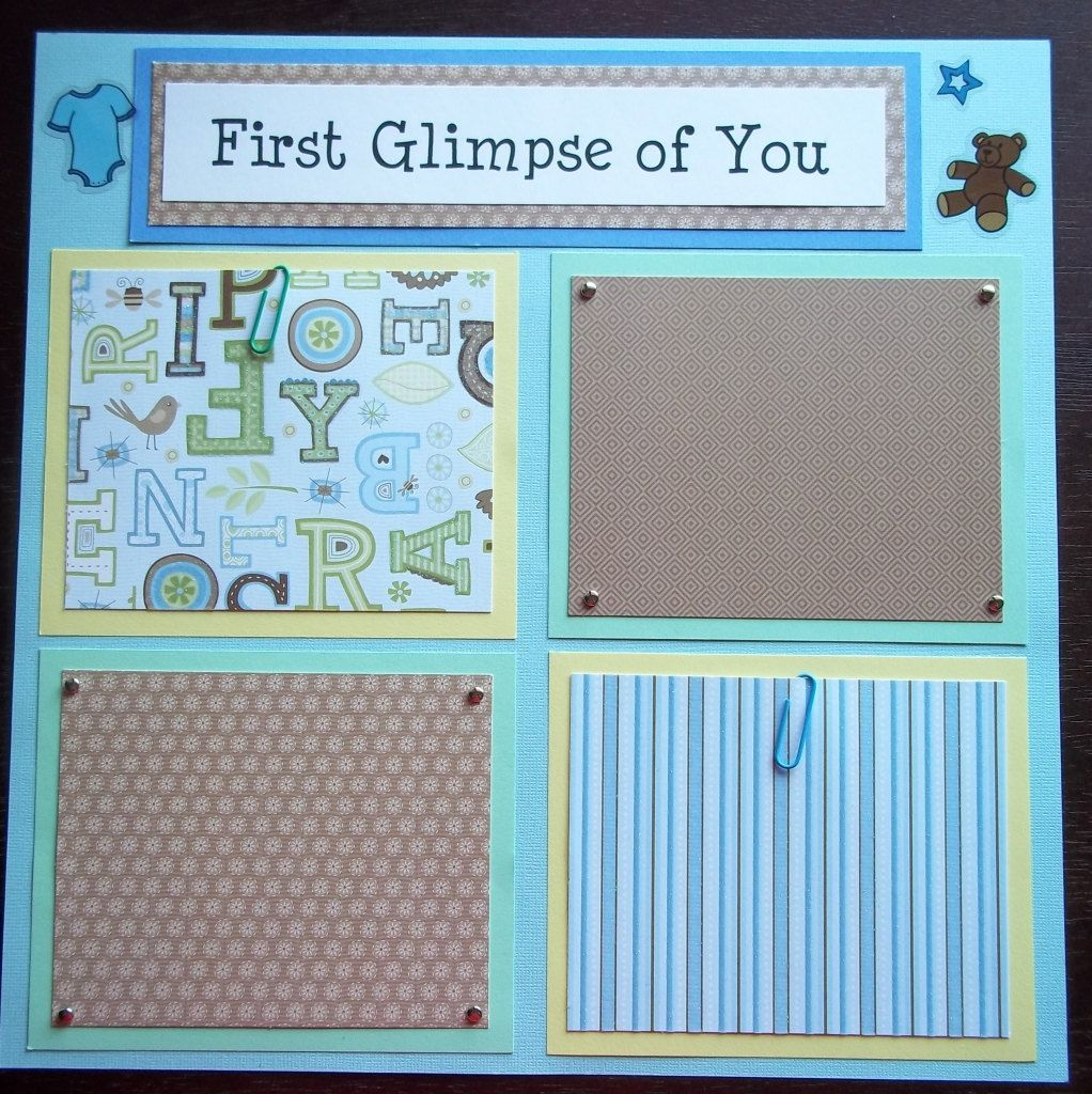Set Of 30 12x12 Premade Scrapbook Pages Baby Boys 1st 12 Months