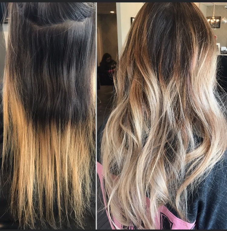 Blonde Hair Makeover Before To After Hair Color Hair Transformation Hair Color Makeover Hair Color C Hair Makeover Hair Transformation Balayage Hair Purple