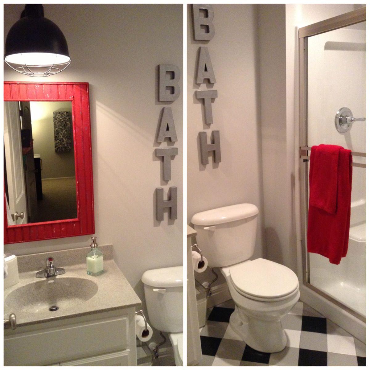 Sis In Laws Basement Bathroom. Buffalo Check Floors