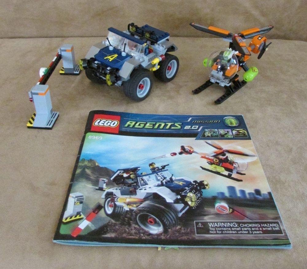 8969 Lego Agents 4 Wheeling Pursuit Complete Instructions Minifig