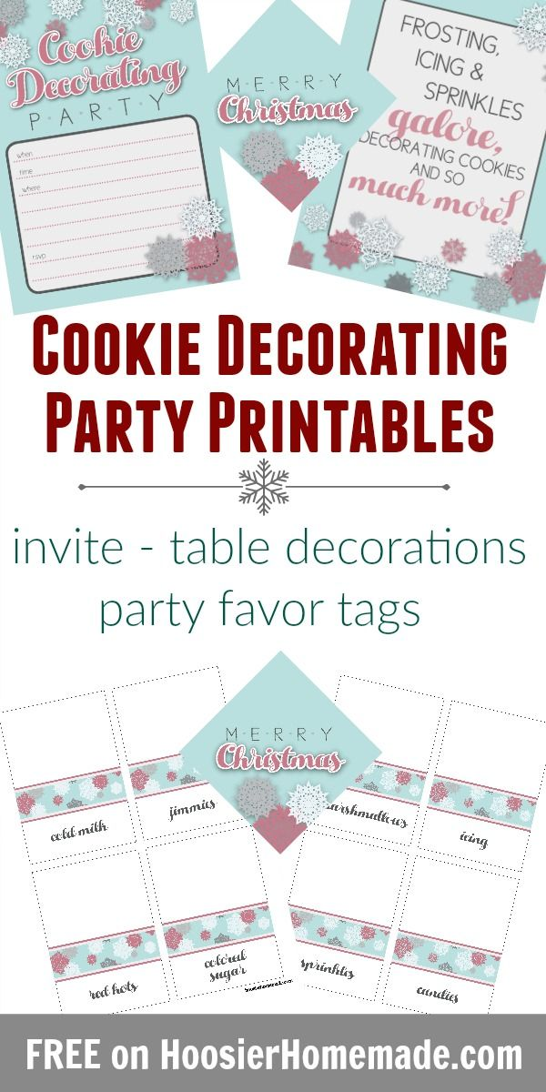 Cookie Decorating Party With Printables Cookie Decorating Party Cookie Decorating Free Printable Invitations