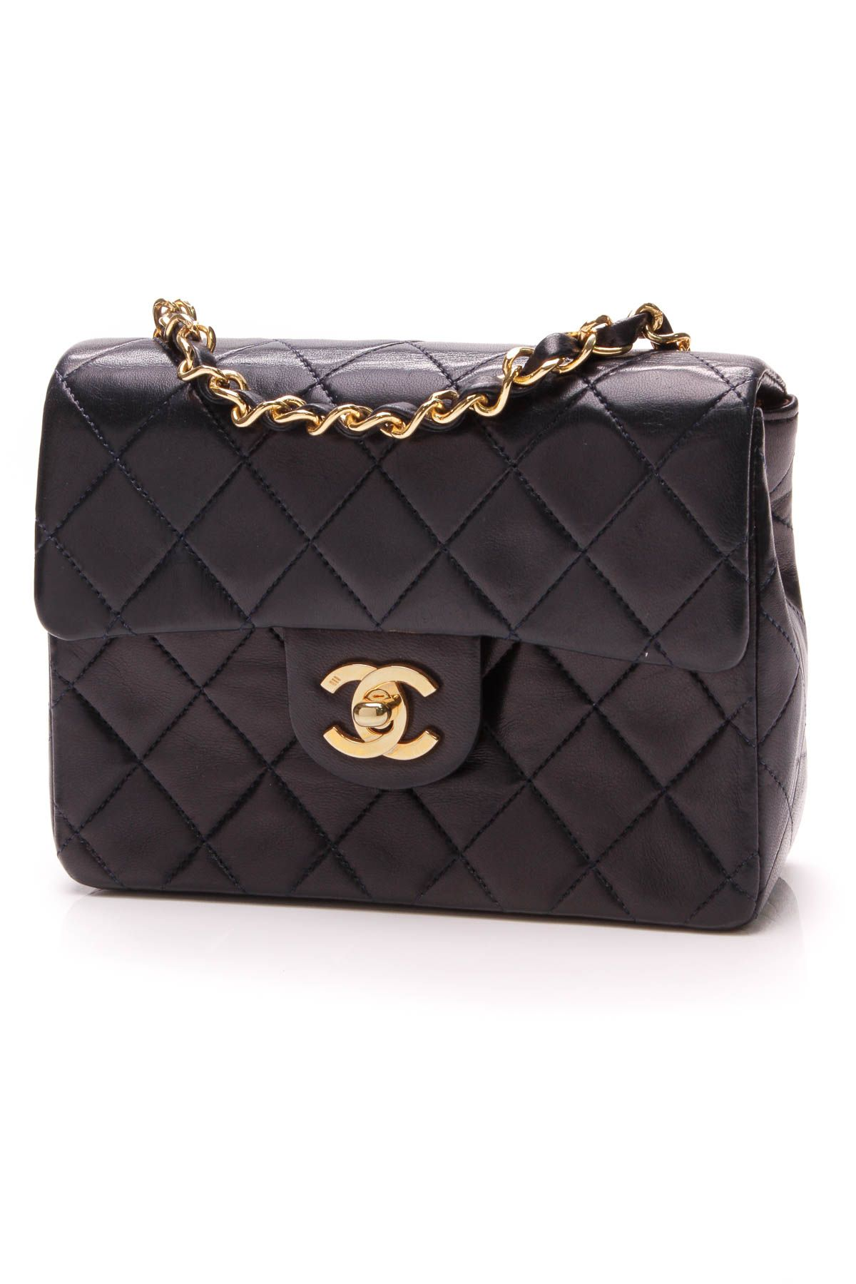0df6036d0476 Vintage Mini Flap Bag - Navy Lambskin in 2019 | Crazy for Coco ...
