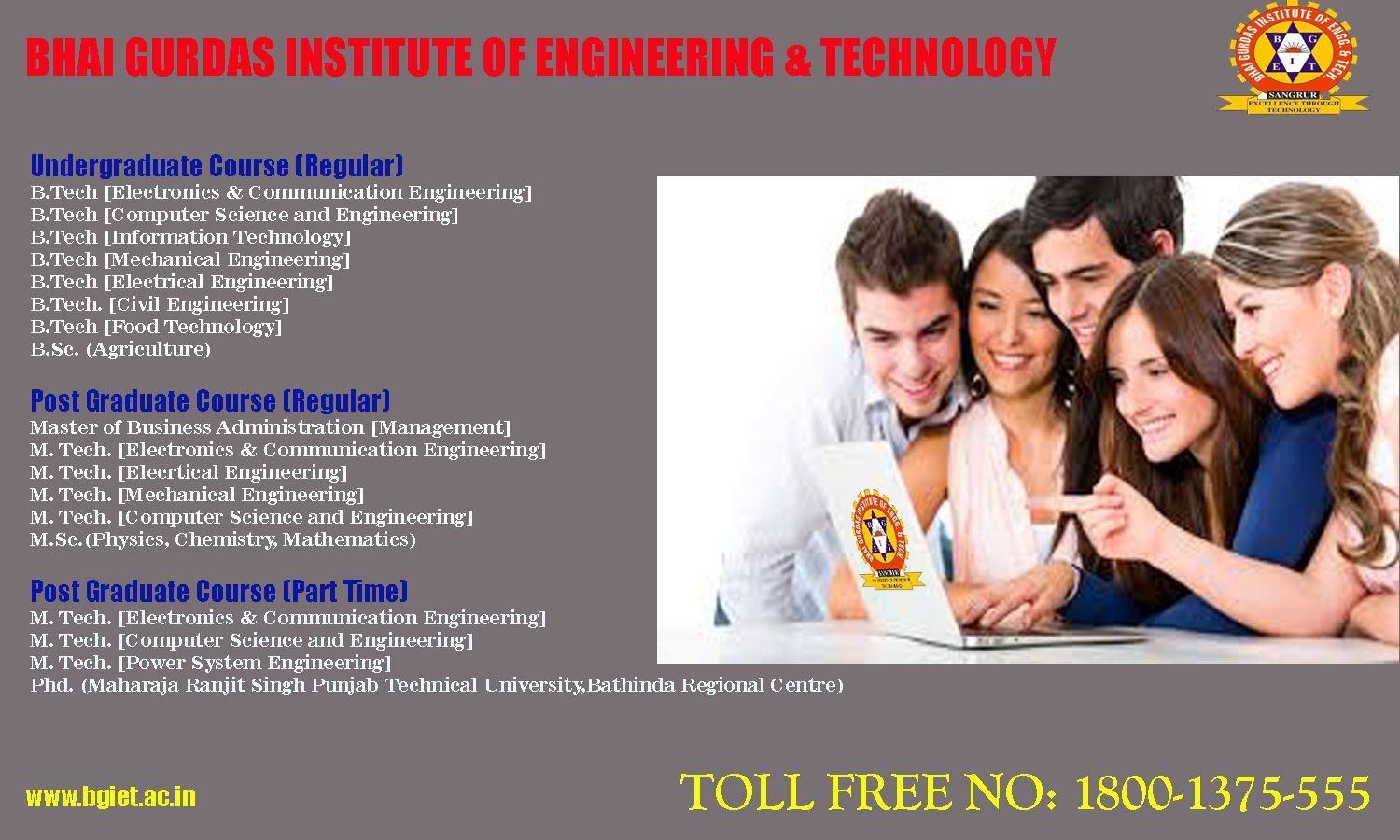 Pin by BHAI GURDAS GROUP OF INSTITUTIONS on ADMISSION OEPN