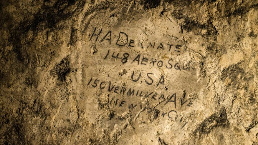 Newly discovered WWI graffiti sheds light on soldier's experience