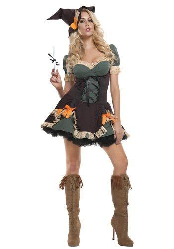 Brand New Creepy Scarecrow Women Adult Costume