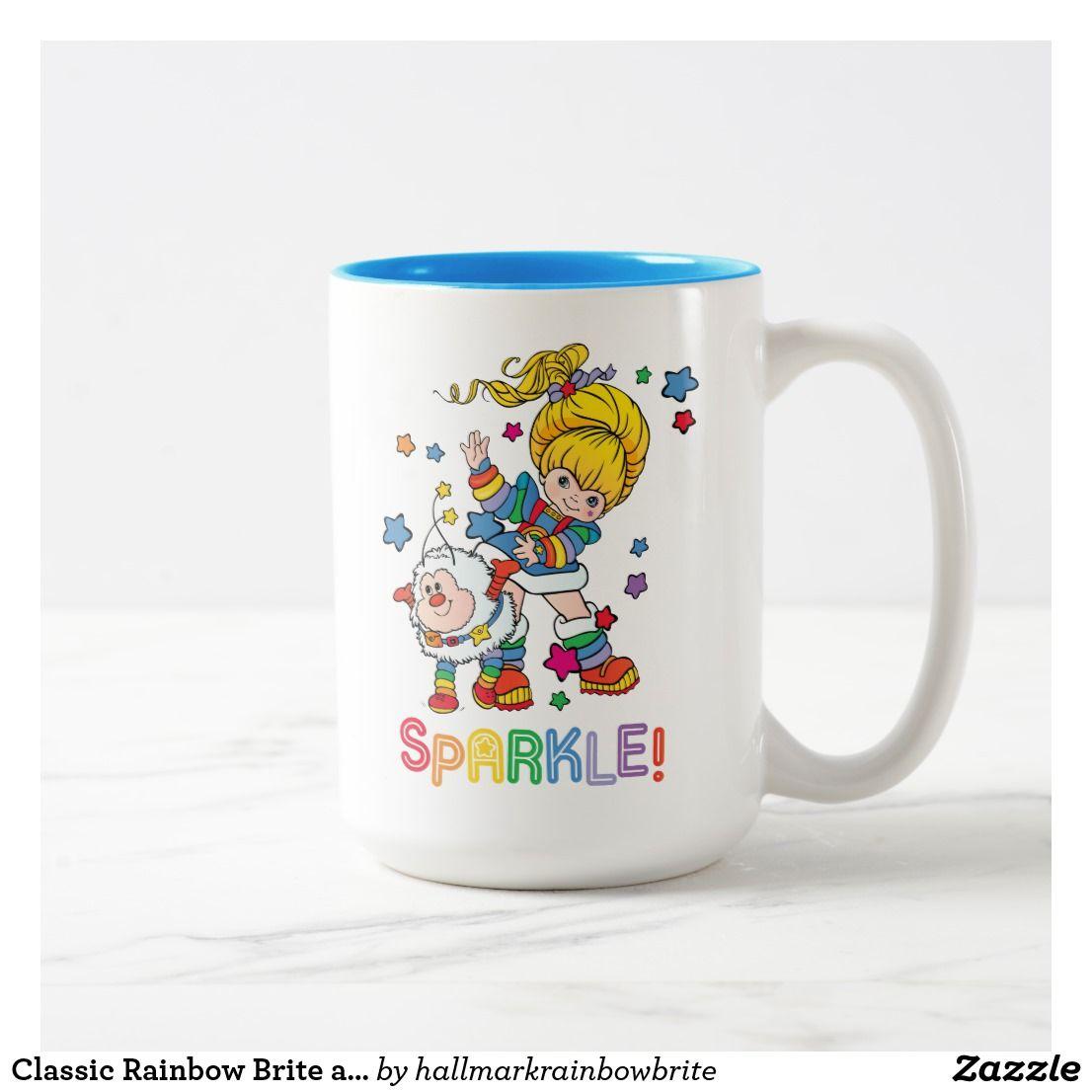 Classic Rainbow Brite and Twink | Sparkle Two-Tone Coffee Mug