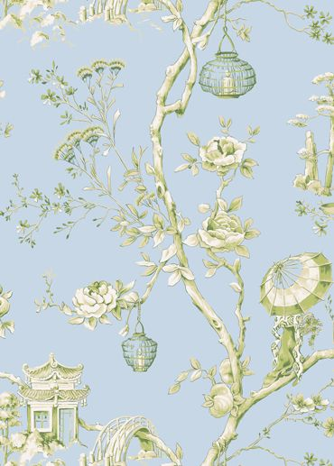 Jasmine Wallpaper from Jaima Brown Home. Aja Collection. It's so fresh and vibrant yet exotic.