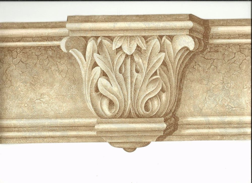 Victorian architectural pillar molding wallpaper border
