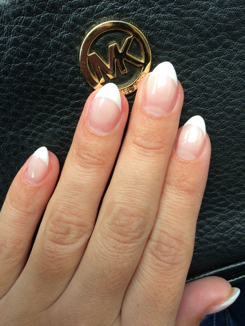 French almond gel nails   Wedding   Pinterest   Almond gel nails and ...