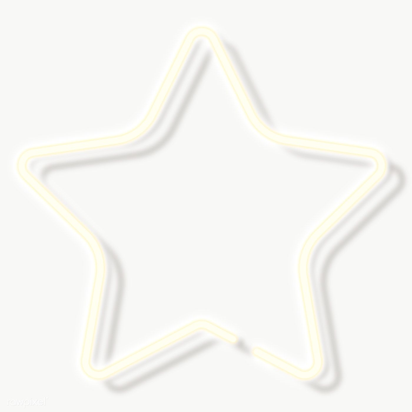 Star Neon Sign Transparent Png Free Image By Rawpixel Com Aew Neon Typography Neon Signs Neon