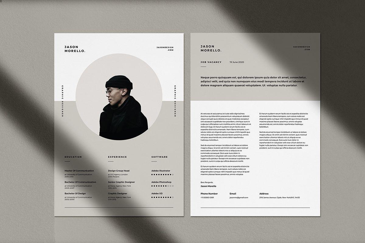 Modern A4 Resume CV Template for Adobe Illustrator in 2020