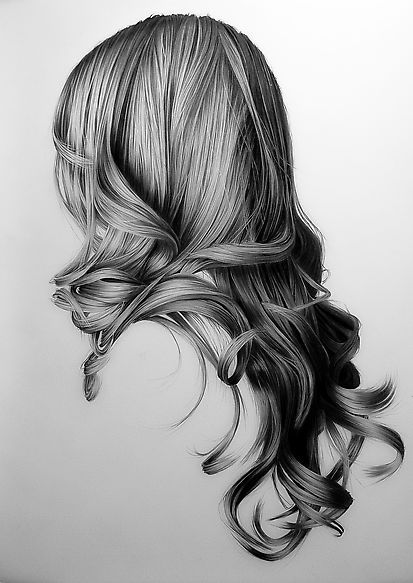 Theres A Lot Of Elegant And Flowing Movement In This Piece The Piece Really Relies On The Movement Realistic Hair Drawing How To Draw Hair Realistic Drawings