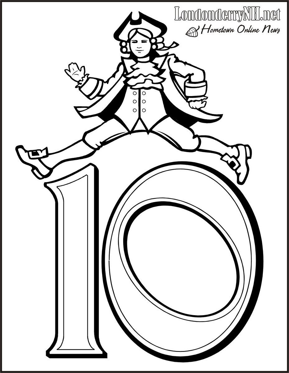 Twelve days of christmas coloring page - 10 Lords Free Printable 12 Days Of Christmas Coloring Pages