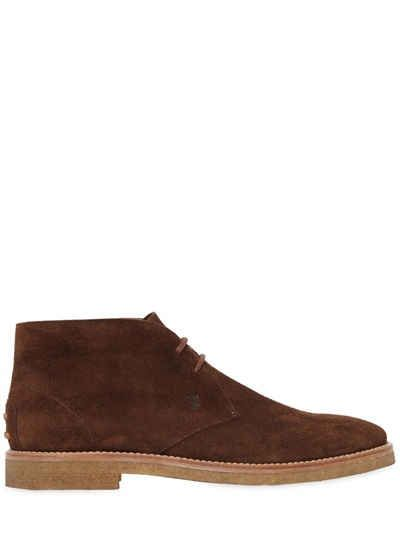 TOD'S LEATHER & NATURAL RUBBER CHUKKA BOOTS. #tods #shoes #
