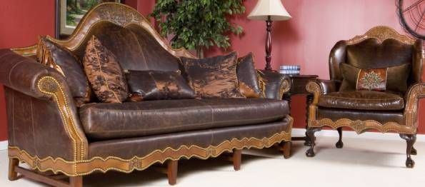 Image Detail For  Buy Chisholm Leather Sofa Texas Western Style Furniture  2007