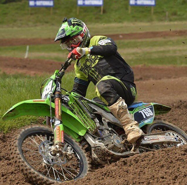 Maxxis sponsord Jed Etchells of Team Green at MX