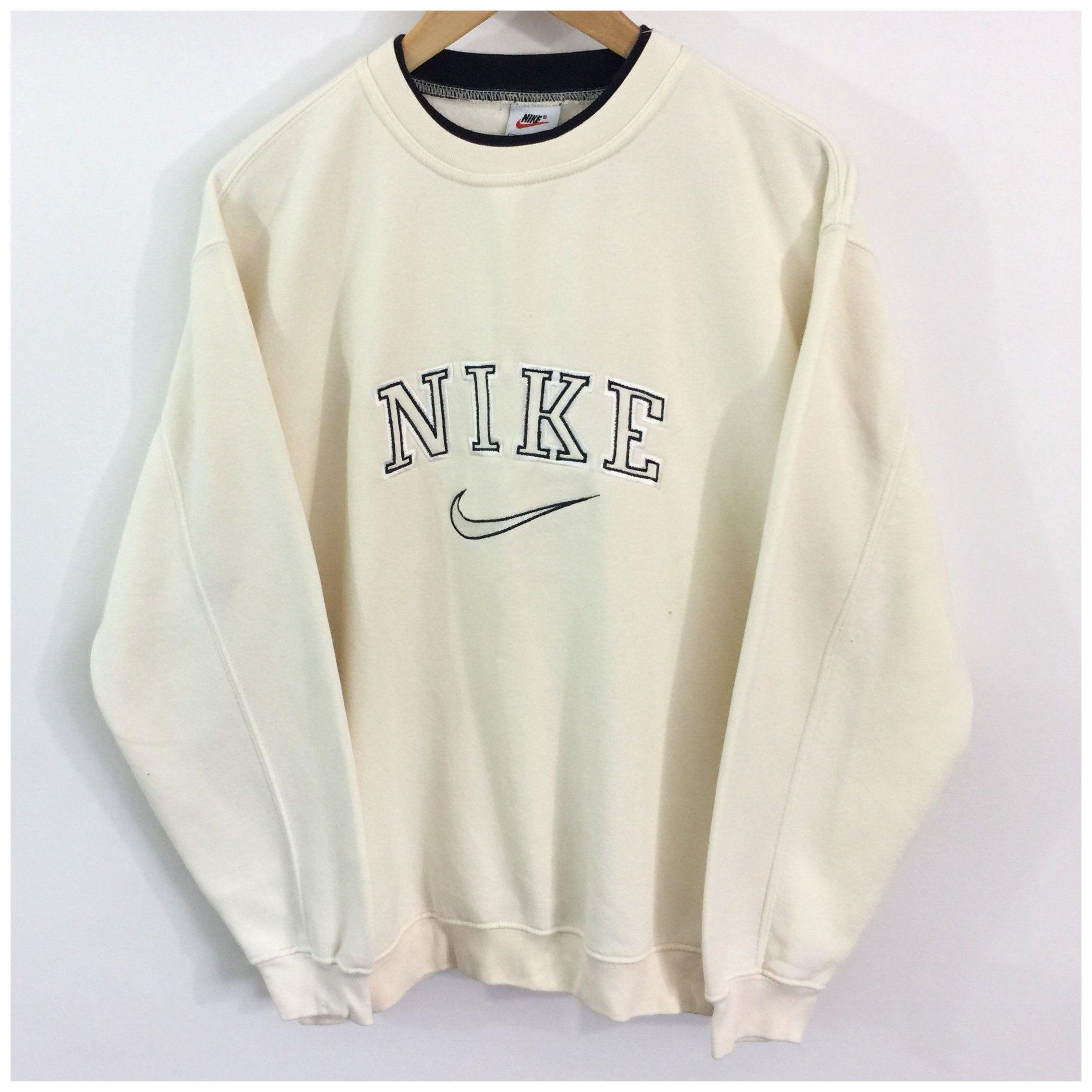 Vintage Nike Sweatshirt Label Size Medium Cream Depop Vintage Nike Sweatshirt Aesthetic Vintage Nike Sweatshirt Sweatshirt Outfit Vintage Hoodies [ 2274 x 2274 Pixel ]