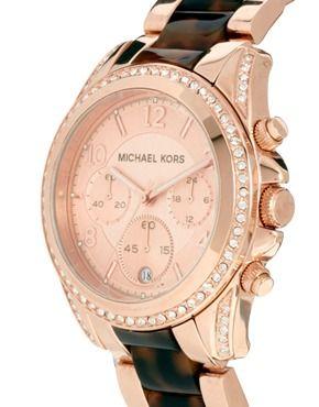 4532ac2abe76 Michael Kors Blair Rose Gold Tortoiseshell Watch