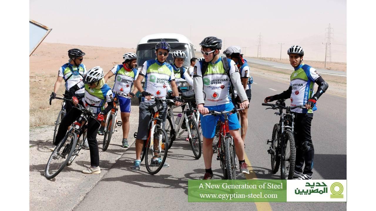 مجموعة حديد المصريين الراعي الرسمي لمجموعة جي بي أي لرياضة ركوب الدراجات ايمانا منا بأهمية الرياضة وما لها من أثار إيجابية وحر Bicycle Moped Motorcycle