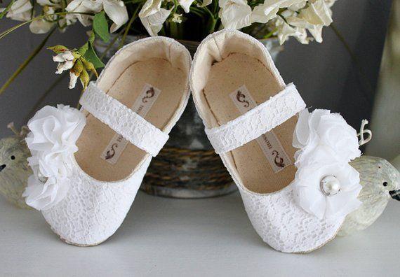 3682621a7a72 Baby Girl Shoes Toddler Girl Shoes Soft Soled Shoes Wedding Shoes Flower  Girl Shoes White Shoes Crea