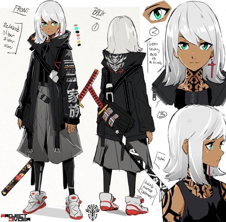 character design sheet Concept Art - Mirilla Ashwood