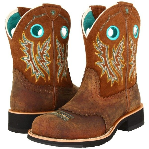 Ariat Fatbaby Sheila (Powder Brown/Tan) Cowboy Boots ($100 ...