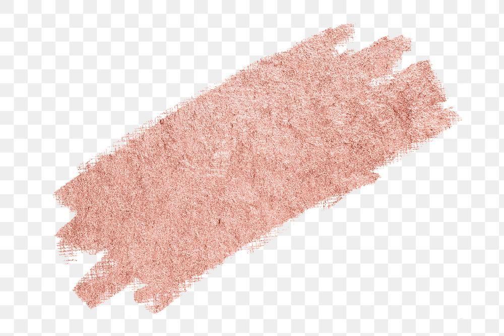 Metallic Rose Gold Pink With Coral Shade Glitter Brush Stroke Free Image By Rawpixel Com Karn Brush Stroke Png Paint Splash Pink Aesthetic