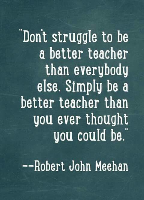 There Is An Art To Teaching And Everyone Has Their Different Finesse And  Flair, Strengths And Weaknesses.