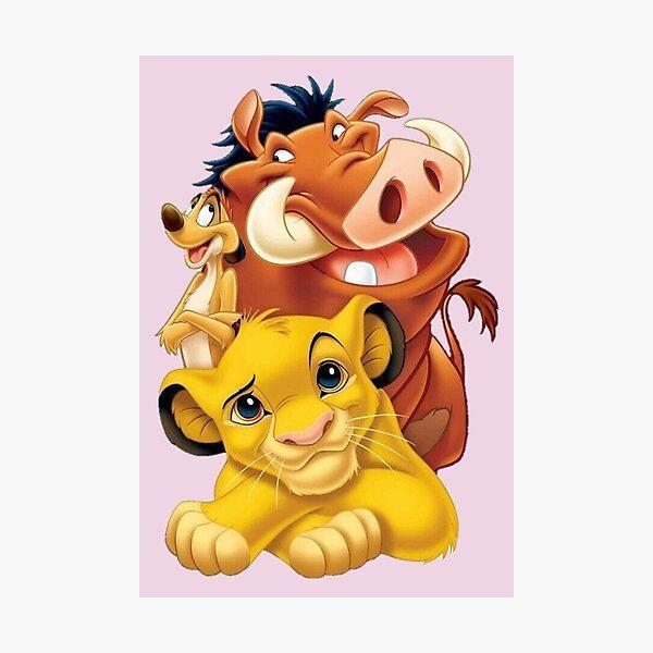 Lion King Simba Timon and Pumbaa Photographic Print