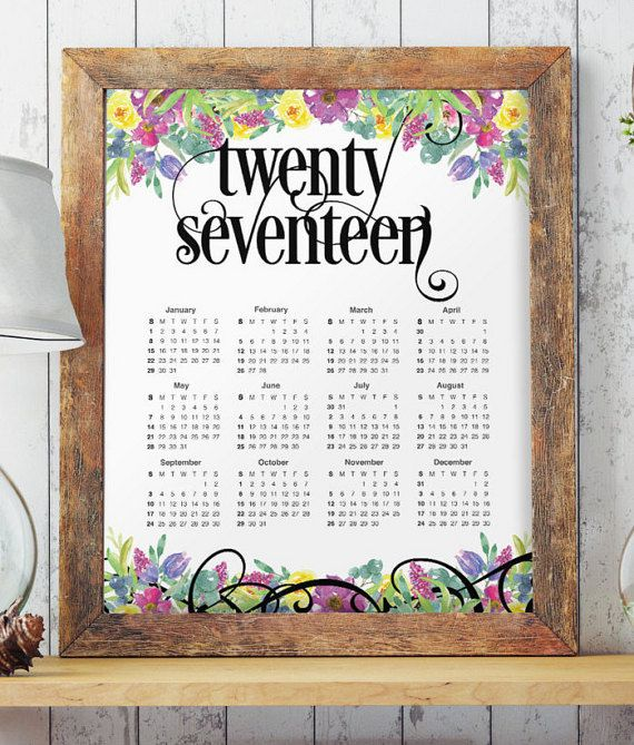 Planner  Big Calendar Large Wall Calendar By Twobrushesdesigns